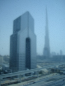 Dubai from an Elevator by Steffan Postaer